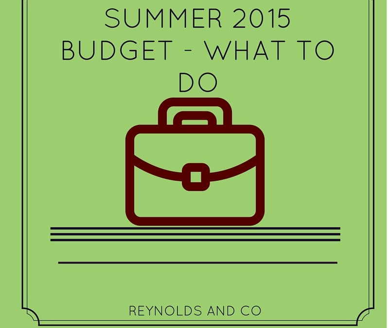Summer 2015 Budget – What To Do
